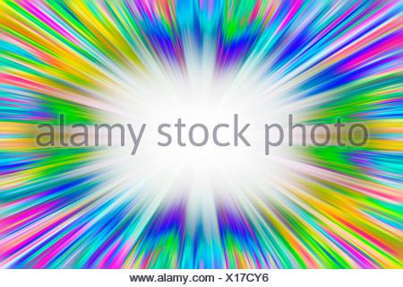 Colorful starburst explosion - Stock Photo