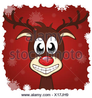 Grinning Reindeer - Stock Photo