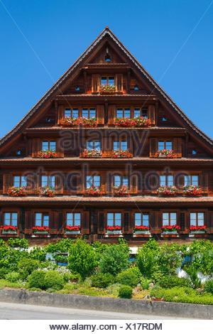 Farmhouse in Central Switzerland - Stock Photo