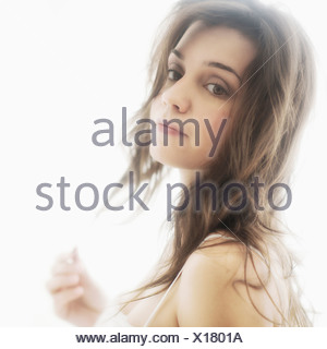 Portrait of young attractive woman - Stock Photo