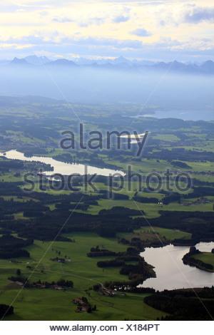 Lech reservoir near Lechbruck - Stock Photo