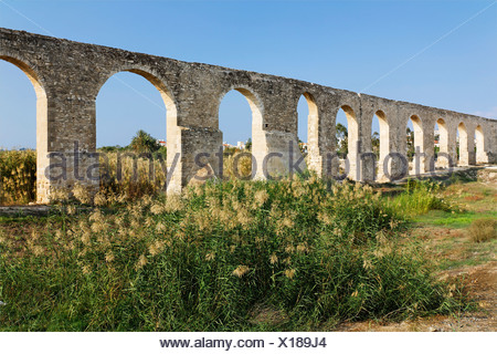 Osmanian aqueduct, built 1745, supplied Larnaca with water till 1939, Cyprus, Asia - Stock Photo