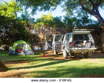 South Africa, North Cape, Benede Oranje, camping in South Africa - Stock Photo