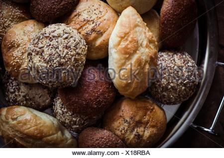 Assorted Artisan Bread Rolls - Stock Photo