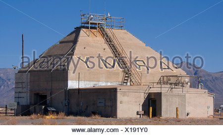 The historic Army Blockhouse Launch Complex 33 in White Sands Missile Range where US Army tested captured V2 rockets. - Stock Photo