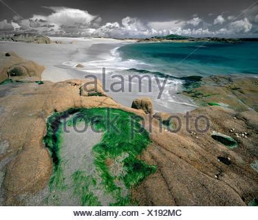 PHOTO ART: Beach on Omey Island, Co. Galway, Republich of Ireland - Stock Photo