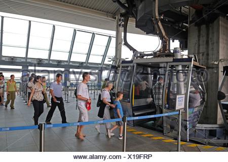 Ngong Ping 360 cable car, Lantau Island, Hong Kong, China, Asia - Stock Photo