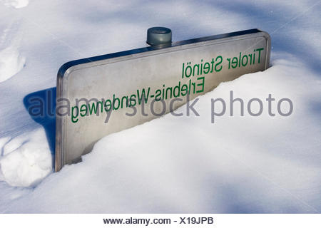 mountains winter hike go hiking ramble recuperation be snowbound tyrol - Stock Photo