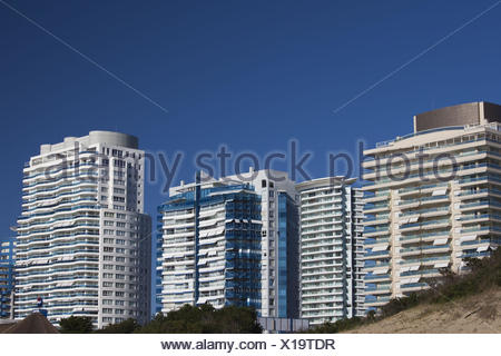 Uruguay, Punta del Este, condo towers by Playa I'marangatu beach - Stock Photo