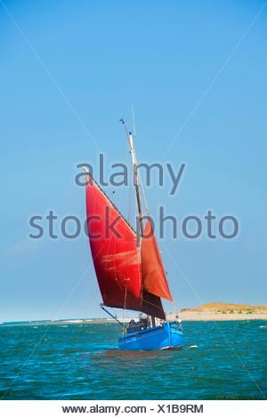 Sailing boat on water - Stock Photo