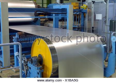 Dip galvanized steel, ThyssenKrupp Steel in Dortmund - Stock Photo