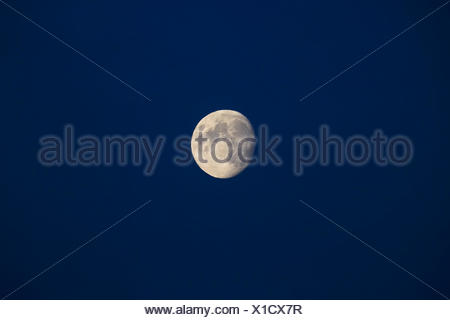 Waxing moon in the sky, Germany - Stock Photo