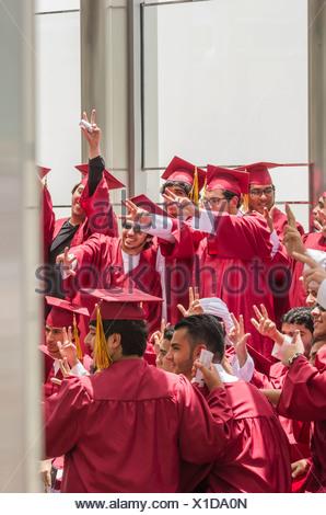 Students, Dubai, United Arab Emirates - Stock Photo