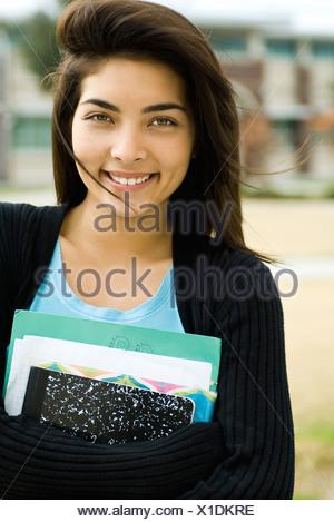 Female high school student, portrait - Stock Photo