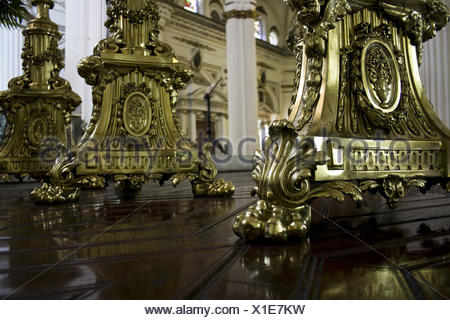 golden candleholder - Stock Photo