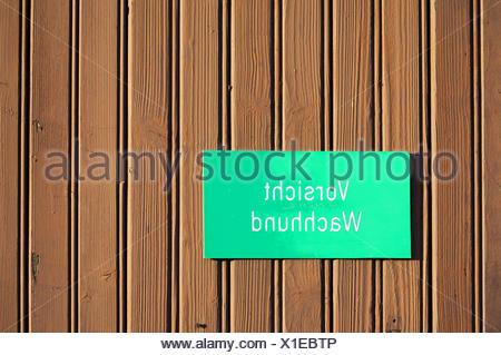 Caution Watchdog - Stock Photo