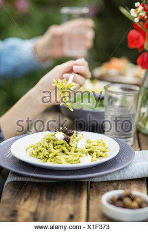 Lunch in the garden - Stock Photo