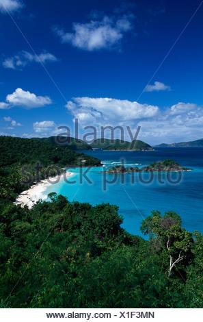 Trunk Bay, Island, St. John Island, United States Virgin Islands, Caribbean - Stock Photo