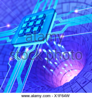 Futuristic computing technology, artwork - Stock Photo