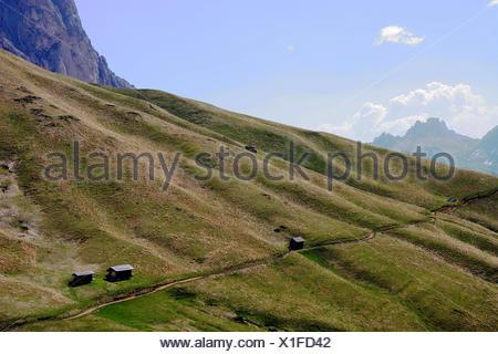 dolomites alps hike go hiking ramble mountain scenery countryside nature - Stock Photo