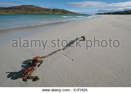 Beach between Huisinis and Loch Crabhadail, Harris, Lewis and Harris, Outer Hebrides, Scotland, Great Britain - Stock Photo
