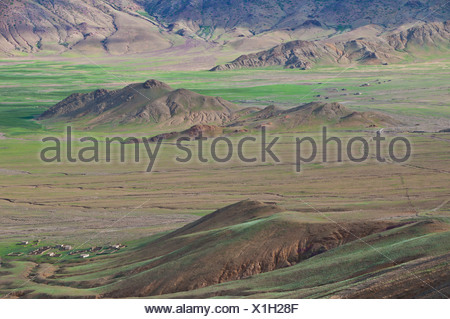 Mountainous Himalayan landscape along the southern route into Western Tibet, Tibet, Asia - Stock Photo