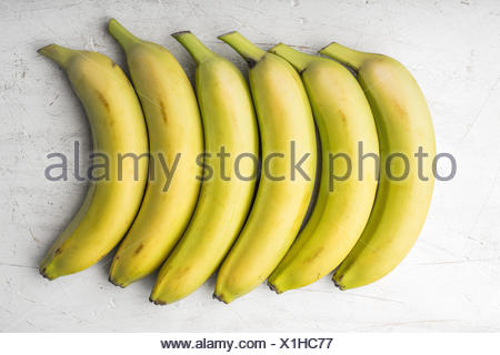 Yellow bananas are laid out in a rectangle - Stock Photo