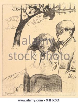 Human Misery, from the Volpini Suite: Dessins lithographiques. Artist: Paul Gauguin (French, Paris 1848-1903 Atuona, Hiva Oa, Marquesas Islands); - Stock Photo