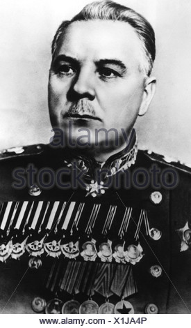 Voroshilov, Kliment, 4.2.1881 - 2.12.1969, Soviet politician (KPSS), statesman and military commander, Marshal of the Soviet Union, secondary Prime Minister 1947 - 1953, portrait, 1950, - Stock Photo