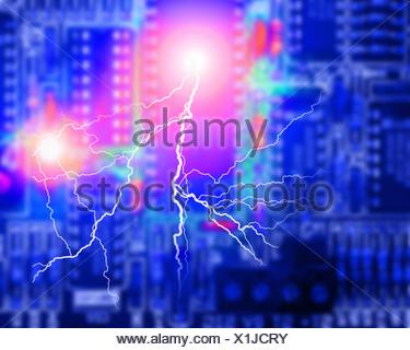 ELECTRONICS CONCEPT: Circuit Board - Stock Photo