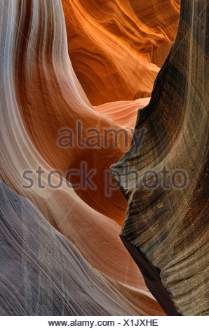 Lower Antelope Canyon, Page, Arizona, USA - Stock Photo