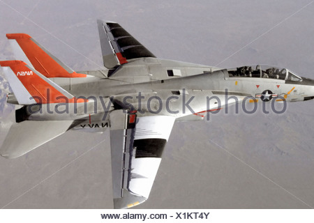 F-14 in Variable Sweep Transition Flight Experiment - Stock Photo