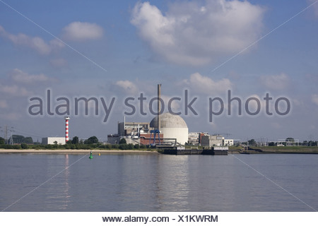 Nuclear power station, Brokdorf, Europe, Germany, electricity, energy supply, nuclear energy, nuclear power plant, power, power - Stock Photo