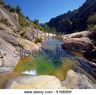 the canyon of Purcaraccia in Bavella mountain, France, Corsica