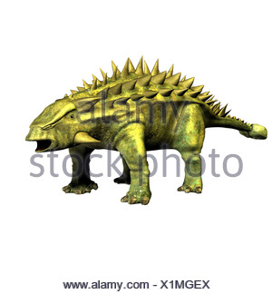The Talarurus is called basket tail and in the upper jurassic period occurred. The length amounted to approx. 6 m. talarurus - Stock Photo