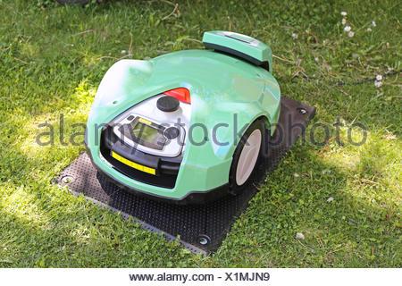 Robotic Mower - Stock Photo