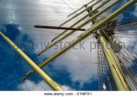 Tall ship Dar Mlodziezy, detail - Stock Photo