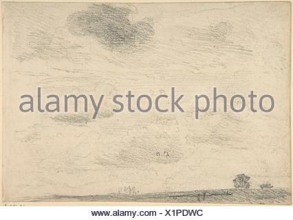 Cloud Study at Hampstead Heath. Artist: John Constable (British, East Bergholt 1776-1837 Hampstead); Date: ca. 1821; Medium: Graphite; Dimensions: - Stock Photo