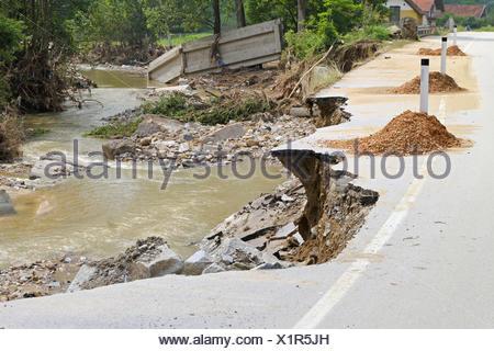 Flood damage - Stock Photo