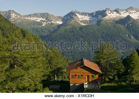 Ticino River valley seen from the Ritom lake in Val Piora, Canton Ticino, Switzerland, Europe - Stock Photo