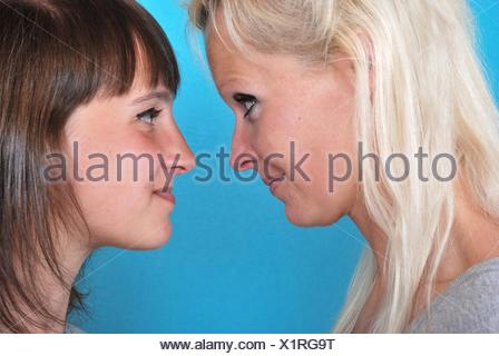 Complicity between mother and daughter.