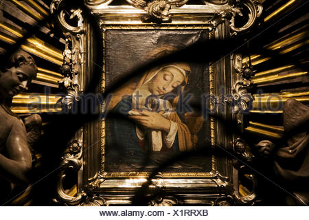 picture of the Virgin Mary in the Dom of Graz, Styria, Austria, Europe - Stock Photo