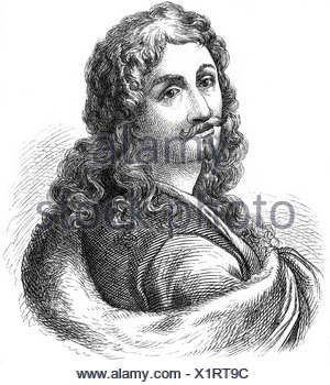 Rosa, Salvator, 20.6.1615 - 15.3.1673, Italian painter, author / writer, portrait, engraving, - Stock Photo