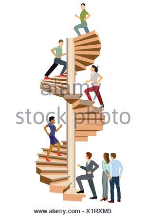 climb Successfully - Stock Photo
