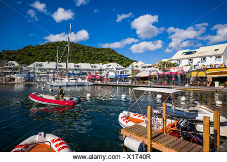 Port la royale marina st martin caribbean stock photo - Marina port la royale marigot st martin ...