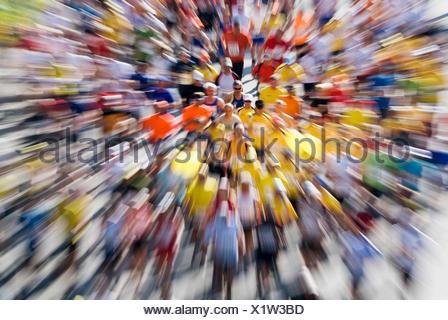 Metro Group Marathon 2008 in Duesseldorf, North Rhine-Westphalia - Stock Photo