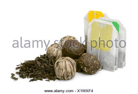 Various kinds of tea - Stock Photo
