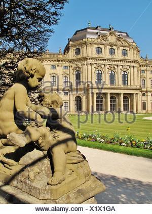 putten in wrzburg hofgarten - Stock Photo