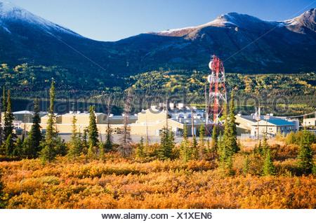 Alaska. Pump Station #12 near Valdez. - Stock Photo