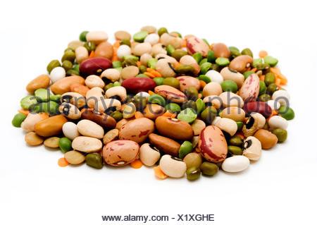 vegetable mix legumes ingredient close macro close-up macro admission close up - Stock Photo